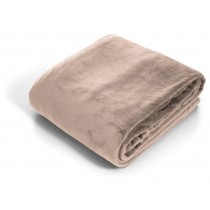 Beige Super Soft  Flannel Twin Size Throw