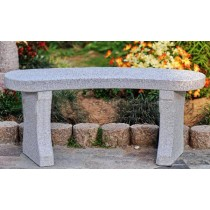 Bench Easy Curved Grey-100x35x44cm