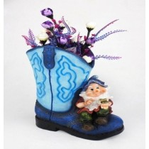 Big Blue Shoe Planter