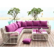 Big Round Rattan Sofa Set - 1