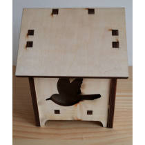 Bird Shape Detachable MDF Bird House