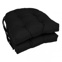 Black 16 Inch U Shaped Cushion With Ties