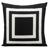 Black 20 Inch Square Shape Polyester Cushion