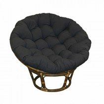 Black 48 Inch Papasan Lounge Chair Cushion