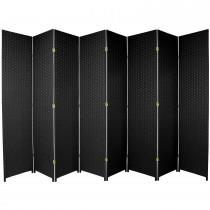 Black 7 Feet - Tall Woven Fiber 8 Folding Panel