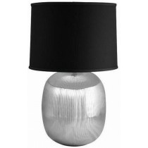 Black and Shiny Finish Aluminum Table Lamp