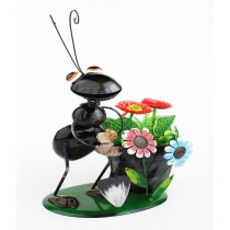 Black Ant Design 25 Cm Metal Planter