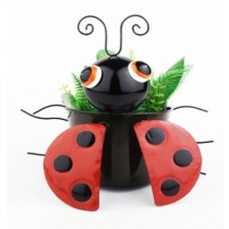 Black Beetle Design 24 cm Metal Planter