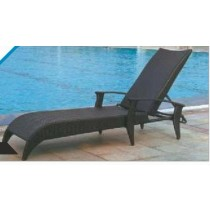 Black Cast Aluminum Pool Side Lounge Chair
