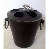 Black Color Aluminum Ice Bucket With Handle