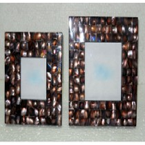 Black coloured mother of Pearl Photo Frame,6 X 4""
