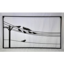 Black Decorative Metal Bird Wall Decor