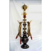 Black Designer Brass & Acrylic Fancy Hookah