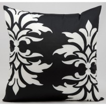 Black Double Damask Pattern Cushion