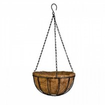Black Finish Metal Hanging Basket