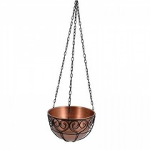 Black Finish Metal Hanging Basket 14 Inch