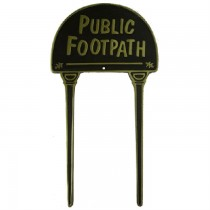 Black Finish Public Footpath Brass Garden Tag
