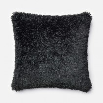 Black Handmade Polyester Square Cushion