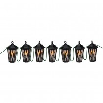 Black LED Carousel String Lanterns Set