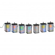 Black LED Mosaic Color Changing String Light Set