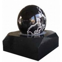 Black Marble Ball For Garden Sculptures