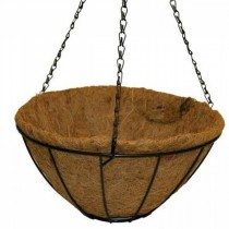 Black Matte Finish Metal Hanging Basket