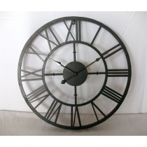 Black painted Metal Wall Clock
