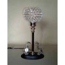 Black Polish Crystal Decorative Lamp