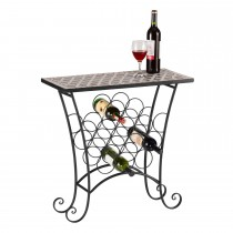 Black Powder Coated 12 Bottle Wine Rack