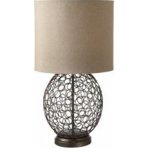 Black Powder Coated Circle Table Lamp