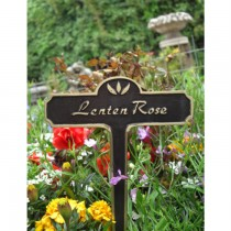 Black Powder Coated Garden Tag