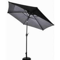 Black Powder Coated Garden Umbrella