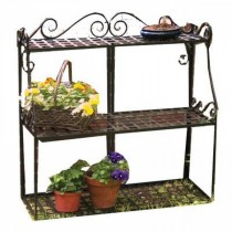 Black Powder Coated Metal 3-Tier Plant Stand