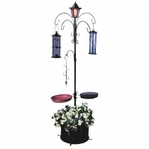 Black Powder Coating Metal Bird Feeding Station Kit