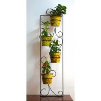 Black Rectangle Wall Planter