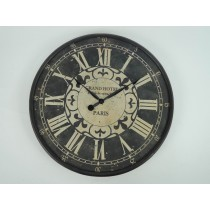 Black Round Metal Wall Clock