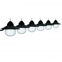 Black Shaded String Light Set