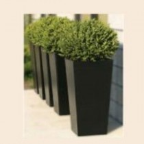 Black Square Fiber Reinforced Plastic Planter