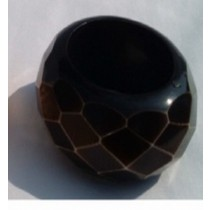 Black Top Round Napkin Ring