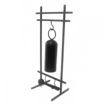 Black Tubular Hanging Gong And Steel Stand