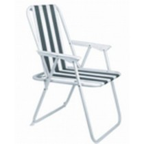 Black & White Strips Design Beach Chair