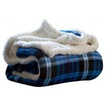 Blue 50 x 60 Inch Contemporary Style Throw