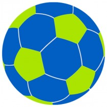 Blue And Lime Large Beanbag Soccer