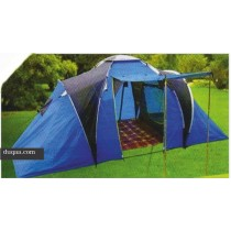Blue & Black Outdoor Garden Gazebo Tent (For 6 People )