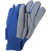 Blue Canvas Grip Garden Gloves