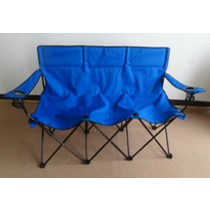 Blue Color Folding 3 Seats Chair