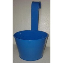 Blue 13 Inch Round Metal Pot With Handle