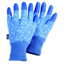 Blue Dipped Finger Gardening Gloves