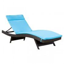 Blue Durable Lounge Chair Cushion