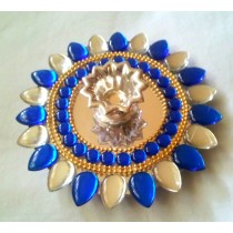 Blue Floating Kundan Lamp